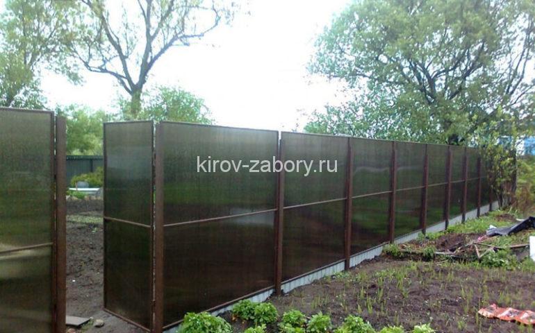 изготовление заборов из поликарбоната в Кирове