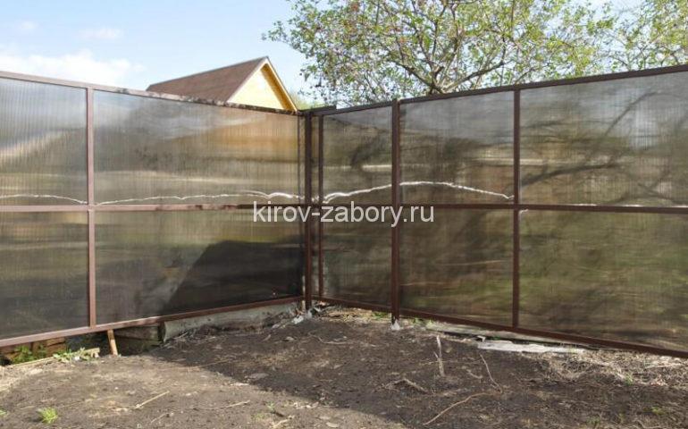 забор из поликарбоната в Кирове