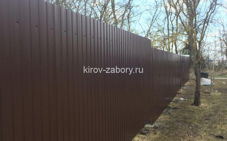забор из профлиста в Кирове